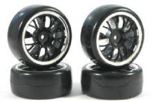 Fastrax Y-Spoke Drift Wheel & V2 Tyre Set (4) - Chrome