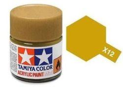 Tamiya mini acrylic paint 10ml X-12 metallic gold