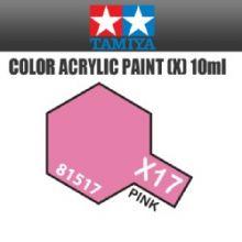 Tamiya mini acrylic paint 10ml X-17 gloss pink