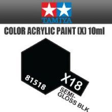 Tamiya mini acrylic paint 10ml X-18 semi gloss black